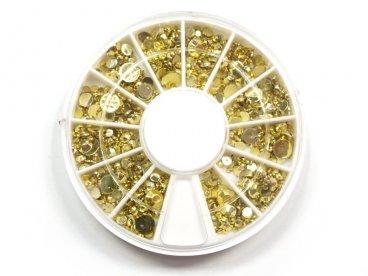Cyrkonie w karuzeli złote