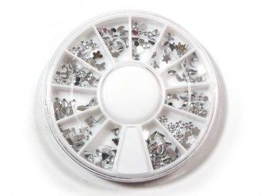 Cyrkonie w karuzeli srebrne kształty