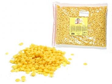 Wosk twardy bezpaskowy w perłach 1kg żółty