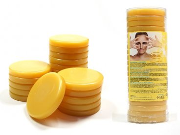 Wosk twardy bezpaskowy w tabletkach 400g żółty