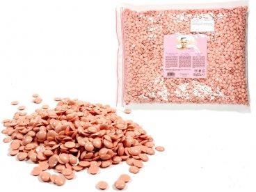Wosk twardy bezpaskowy w perłach 50g różowy