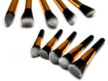 Zestaw pędzli do makijażu 10 szt kabuki